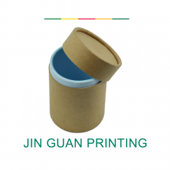 Custom high quality paper cardboard cylinder packaging round box with lid