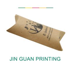 ECO friendly paper custom printing foldable packaging recycled brown kraft pillow box